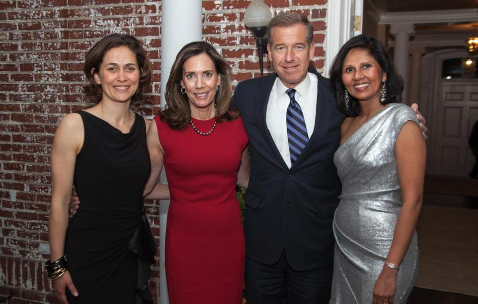 From left: Meredith Laban, Jane Stoddard Williams, Brian Williams, and Gita Iyer at a Horizons at Dedham Country Day School fund-raiser.