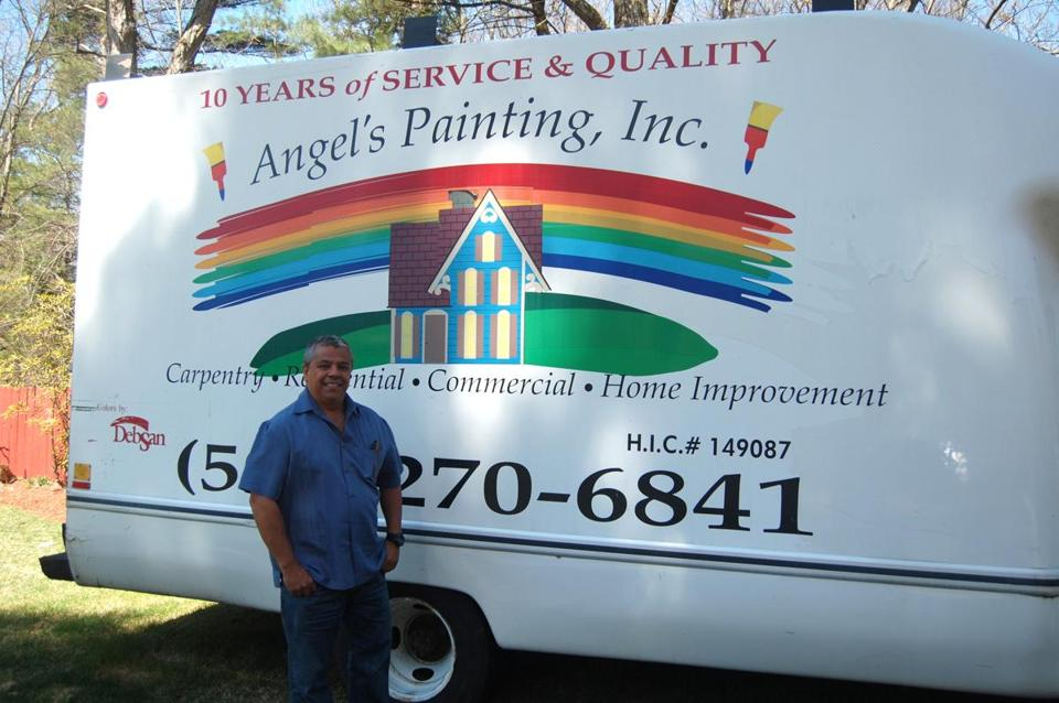 Angel Valdivia, from Chile, was nominated for the 2013 Immigrant Entrepreneur Awards. His company is Angel's Painting, Inc. in Framingham.