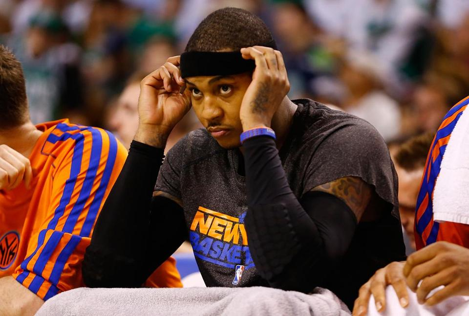 Carmelo Anthony missed seven of 10 shots in the fourth quarter, and then missed 3 of 4 in overtime.