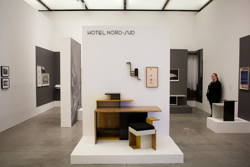 Katarina Burin's work in the Foster Prize exhibit takes the form of a fake museum exhibit devoted to a fictitious architect.