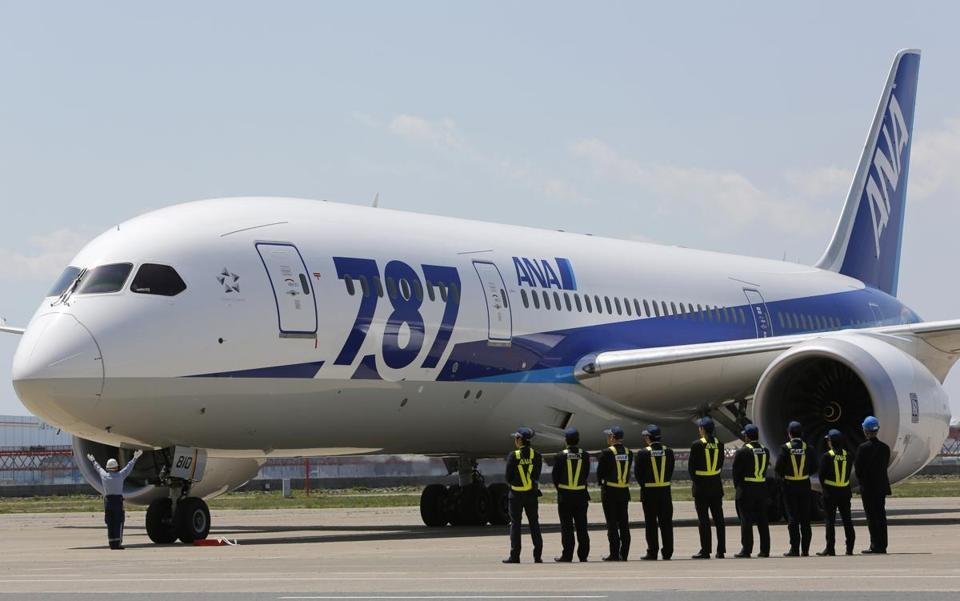 The 787, Boeing's newest and most technologically advanced jet, was ordered out of service in January.