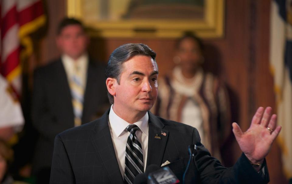 "Springfield Mayor Domenic Sarno said, ""urban centers have become a dumping ground"" for refugees."