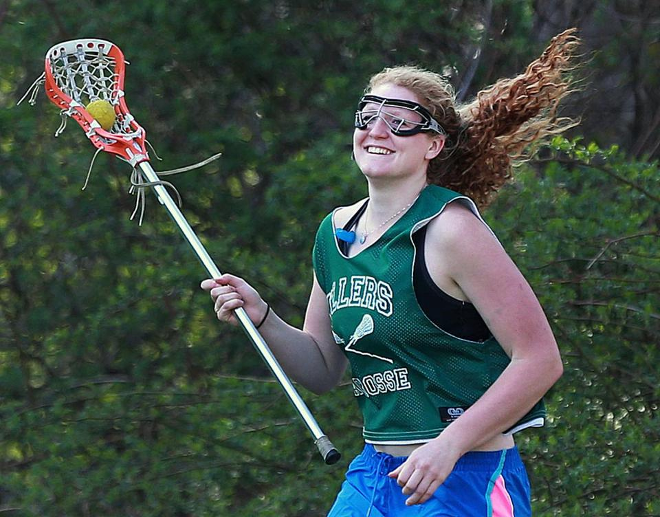Tess Chandler (left) and Taylor Sokol, midfielders for the Hopkinton High girls' lacrosse team, have helped their team start the season with a 6-2 record. Chandler has 19 goals and dished out 13 assists. Sokol has 19 goals and three assists.