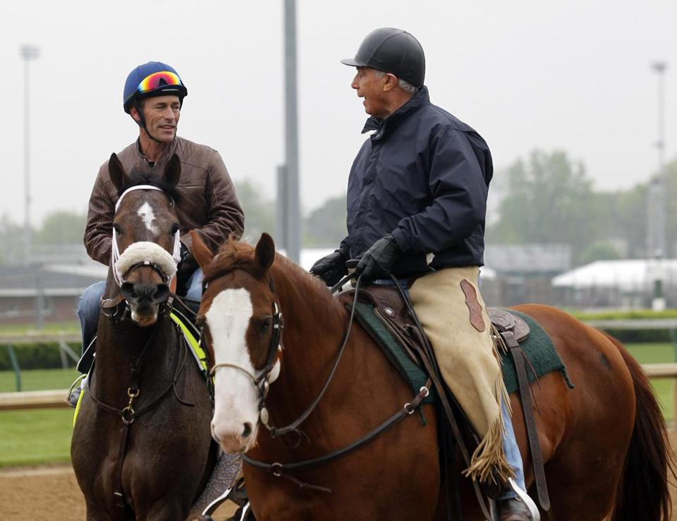 Gary Stevens (left) has two Derby wins while riding for trainer D. Wayne Lukas (right).