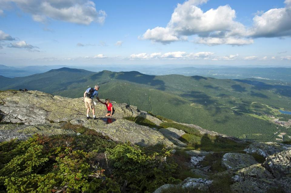 Waterbury, Vermont makes a great base for a healthy escape, thanks to fabulous hikes (including Mt. Mansfield.)