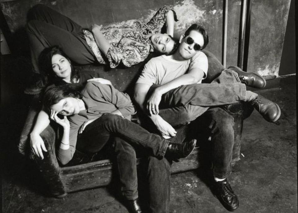 Clockwise from top: Kim Deal, Jim MacPherson, Josephine Wiggs, Kelley Deal.
