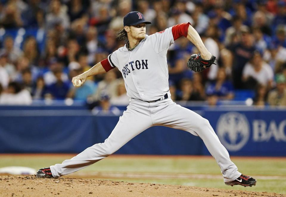 Clay Buchholz improved to an MLB-best 6-0 with his win on Wednesday. )