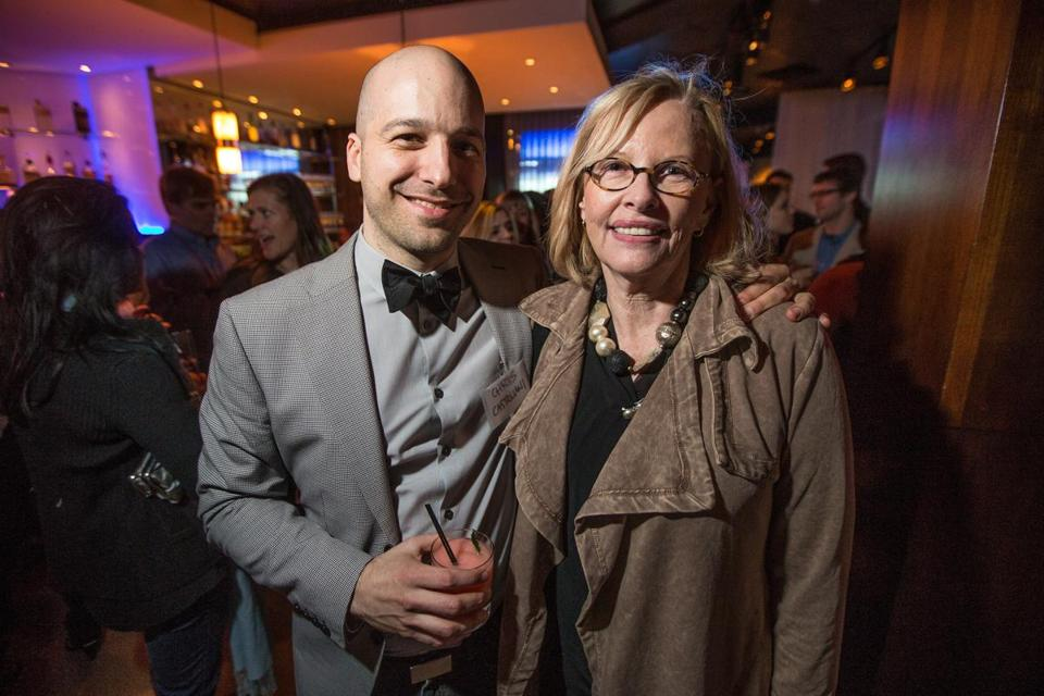 Grub Street artistic director Christopher Castellani and Anita Shreve at 28 Degrees.