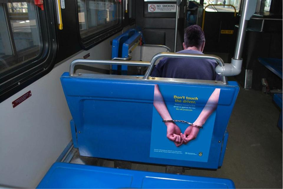 Signs inside buses will warn against assaults on drivers. In the first four months of 2013, 28 attacks were reported.