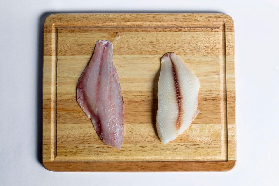 The Globe found that tilapia (right), an inexpensive farmed fish, was substituted for wild red snapper (left).