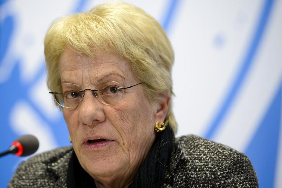 UN investig­ator Carla Del Ponte said there was evidence that Syrian opposition forces used chemical weapons.
