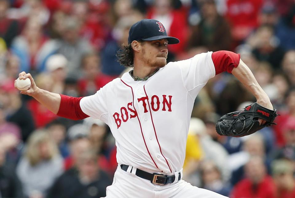 Clay Buchholz is making his first start since being accuse of doctoring the ball. (AP Photo/Michael Dwyer)