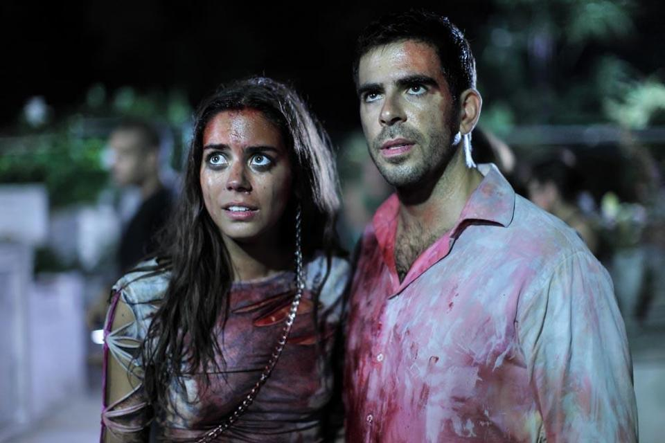 Eli Roth (with Lorenza Izzo) co-wrote and stars in the film.