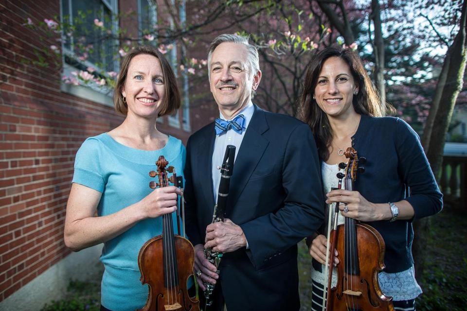 From left: Longwood Symphony members Dr. Heidi Harbison Kimberly, Dr. Mark Gebhardt, and Ramona Nee.
