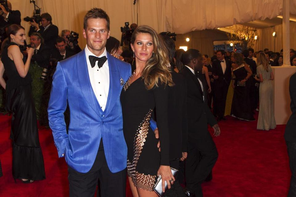 Tom Brady and Gisele Bundchen at the Costume Institute's annual gala at the Metropolitan Museum of Art in New York.