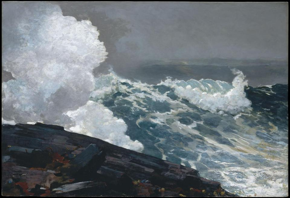 "One of the works slated to be on view at the Museum of Fine Arts is ""Northeaster."""