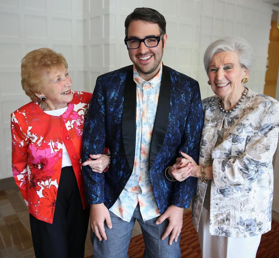 From left: Letty Zander, 96, Ari Seth Cohen, and Sylvia Carle, 97, at Orchard Cove.