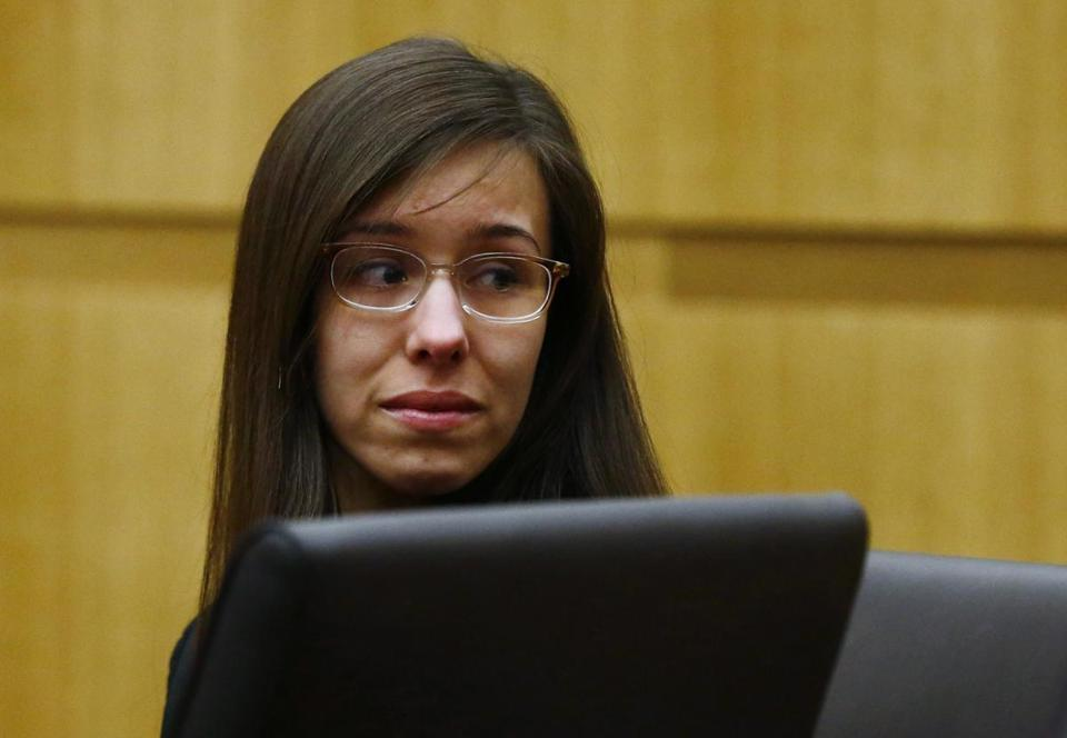 Jodi Arias reacted as a guilty verdict was read in her first-degree murder trial in Phoenix.
