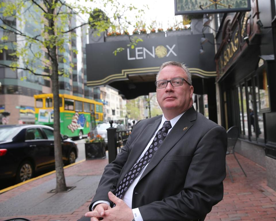Dan Donahue, managing director of the Lenox Hotel, is among the business executives recovering from losses from the Marathon bombings.