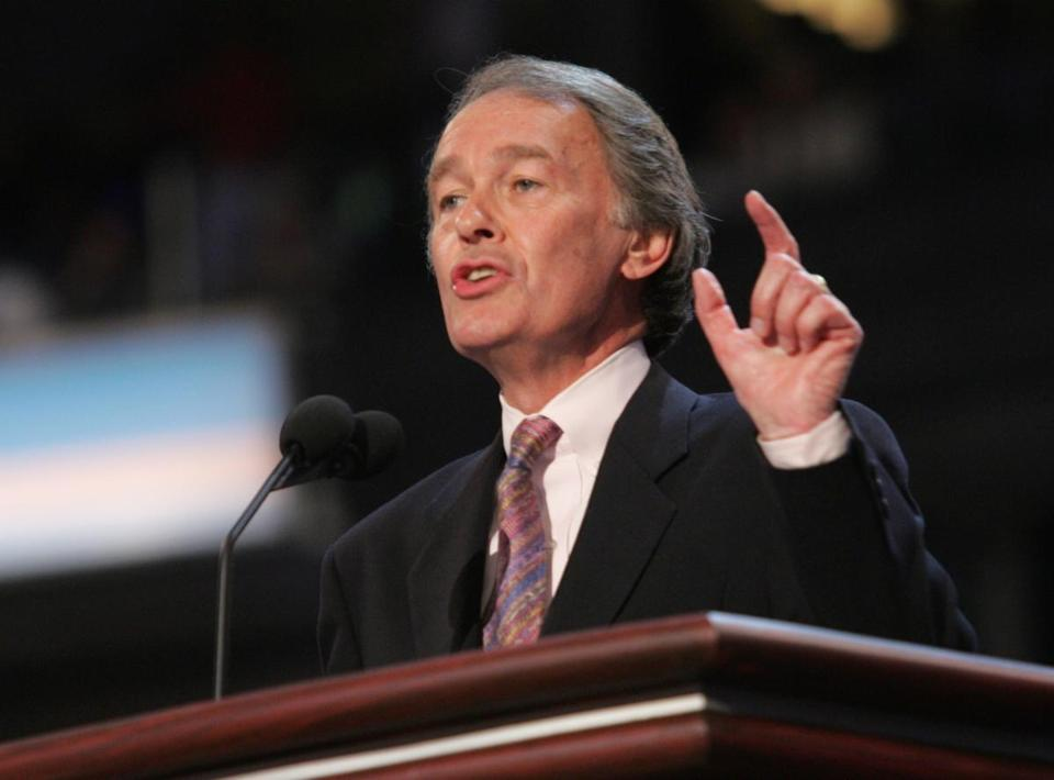 Edward Markey, in Congress since 1976, has a big head start on fund-raising, argues his rival, Gabriel Gomez.
