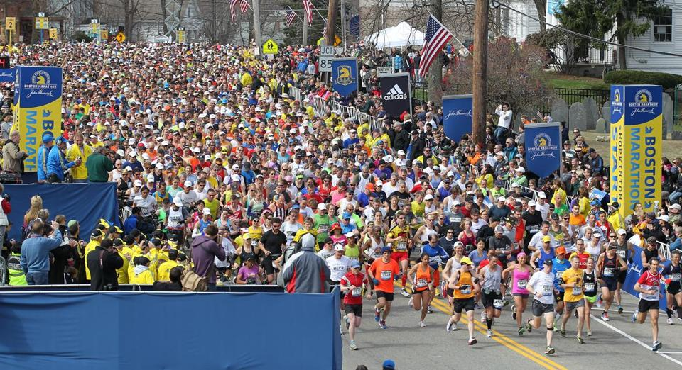 The 2014 Boston Marathon will have 36.000 official entrants, 9,000 more than this year's.
