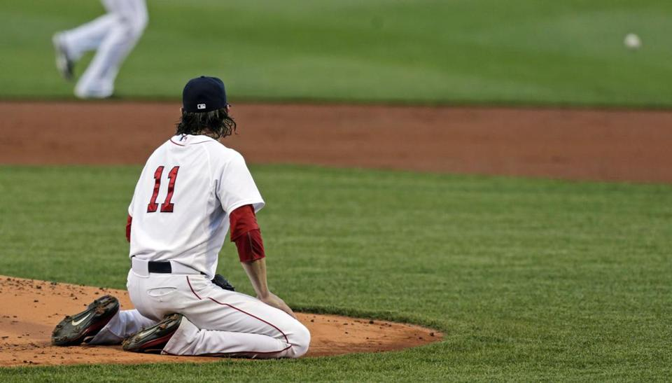 Clay Buchholz failed to pick up the win for the first time this season in his start on Monday.