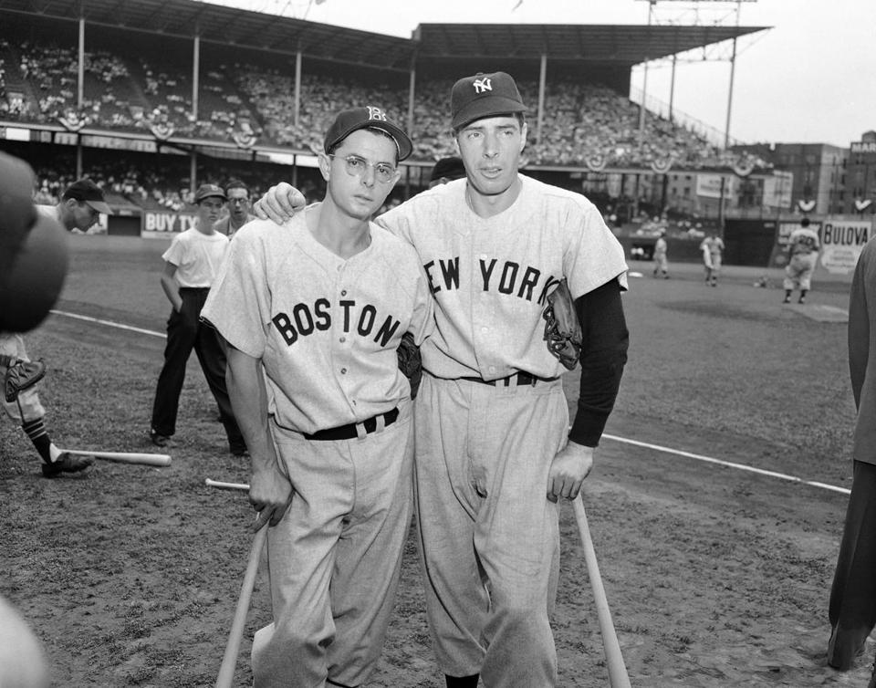 Dominic and Joe DiMaggio in 1949.