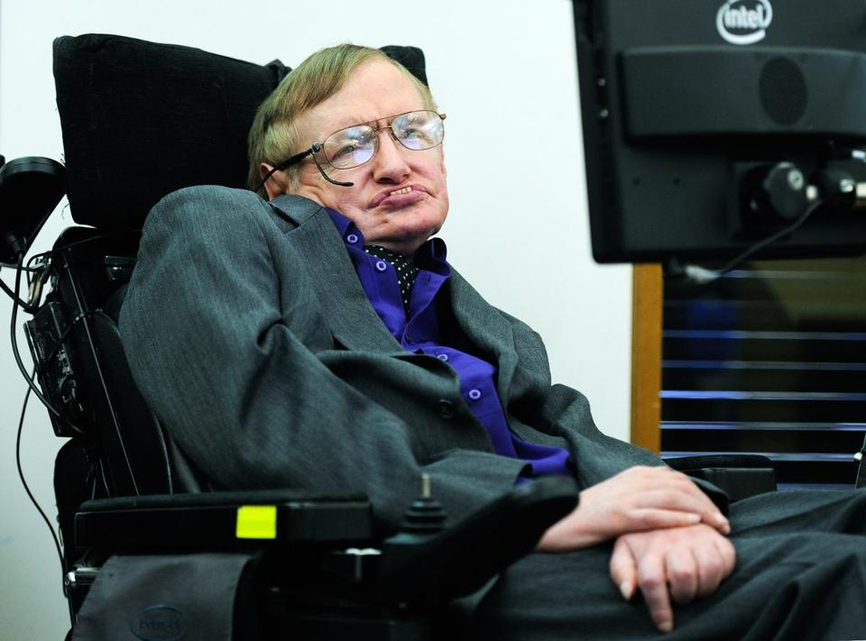 Sir Stephen Hawking appeared at an event in London on April 30.