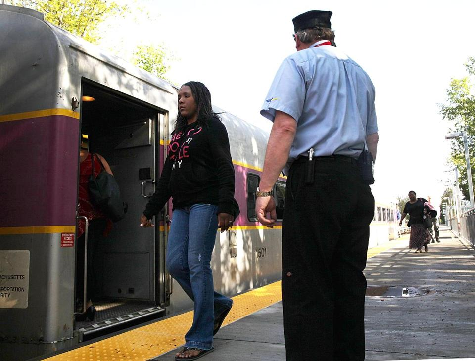 At the Talbot Avenue stop in Dorchester, commuters boarded the Fairmont Commuter Rail Line in May.