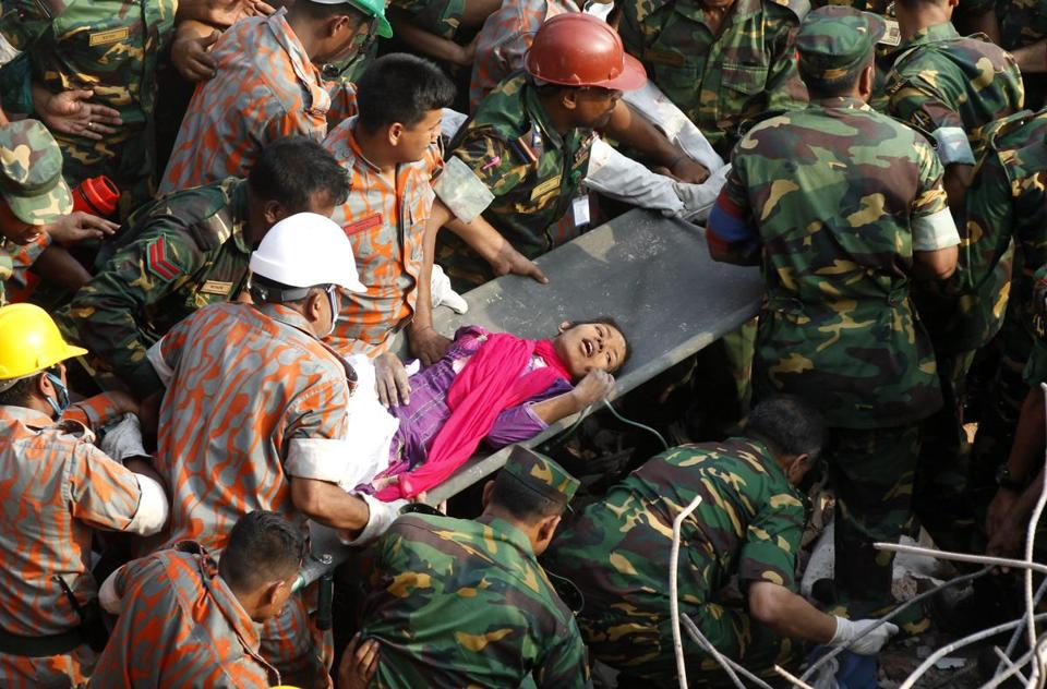 "A woman who disappeared in the catastrophic building collapse on the outskirts of Dhaka, Bangladesh, on April 24 was discovered alive on Friday. Reshma Begum survived in an opening between beams and pillars, and said she had located food and water that lasted until two days ago. ""I never dreamed I'd see the daylight again,'' Begum said on local TV. The death toll has topped 1,000."