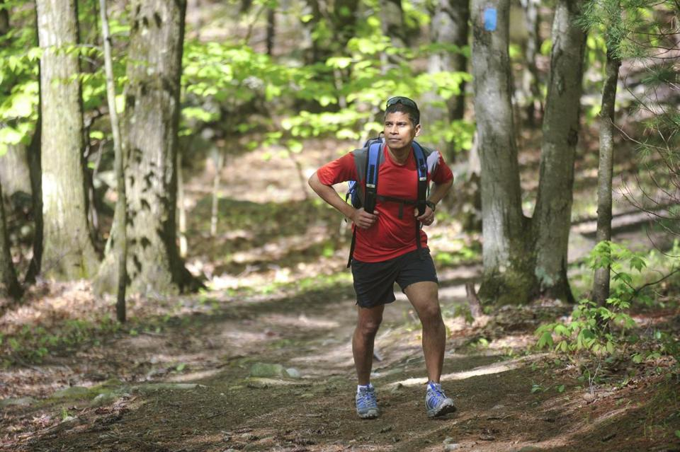 Reji James, 44, became hooked on hiking 13 years ago.