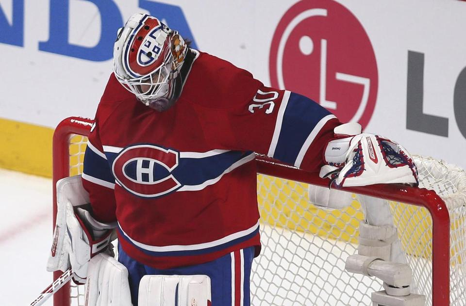 Canadiens goalie Peter Budaj was not sharp Thursday night, giving up six goals to the Senators.