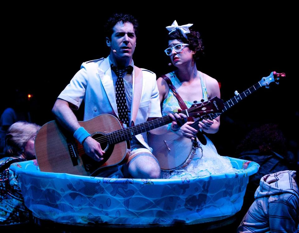 "Zeke Sulkes and Christine Stulik in the ART production of ""The Pirates of Penzance,"" by the Chicago-based Hypocrites."