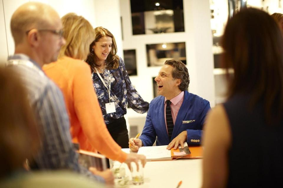 "Thom Filicia signs copies of his new book, ""American Beauty."""