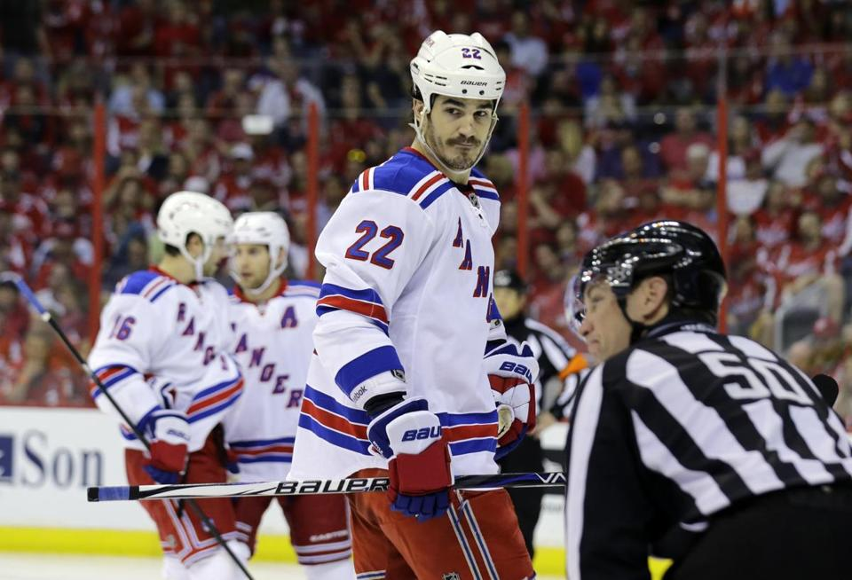 Brian Boyle has been a presence in two Rangers losses.
