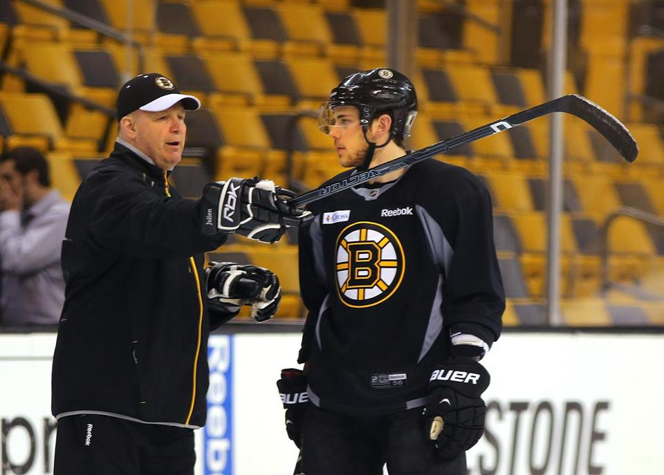 Is this the series when Tyler Seguin (right) gets his game going and Claude Julien (left) puts him back on the second line? John Tlumacki/Globe Staff