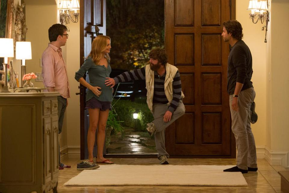 "From left: Ed Helms, Heather Graham, Zach Galifianakis, and Bradley Cooper in ""The Hangover Part III."""