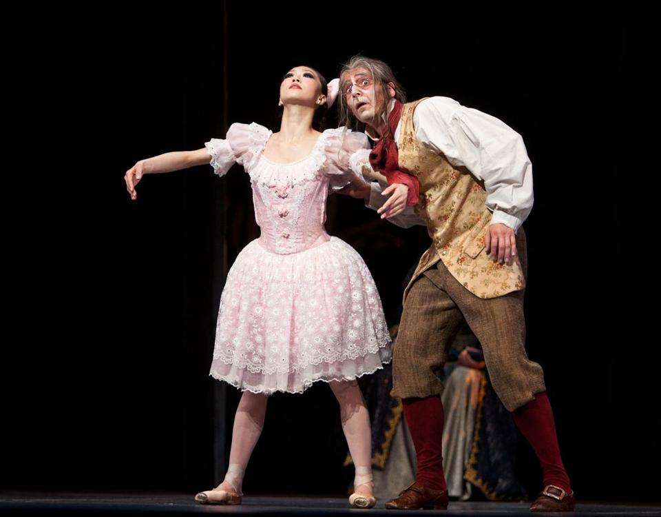 "Misa Kuranaga and Boyko Dossev held sway in ""Coppélia,"" which is being performed at the Boston Opera House."
