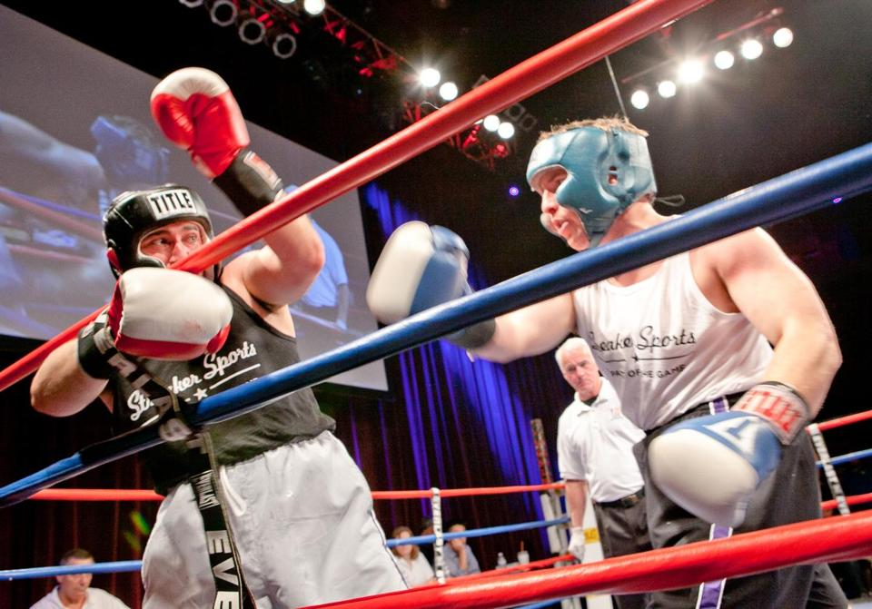 Mike Shaw and Judd Smith square off in the Haymakers for Hope fund-raiser at the House of Blues.