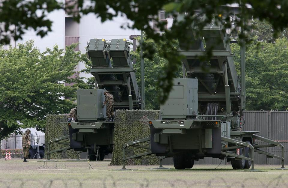 Japanese soldiers checked a missile interceptor unit at the Defense Ministry in Tokyo on Saturday, after reports that North Korea had fired short-range missiles into the sea.