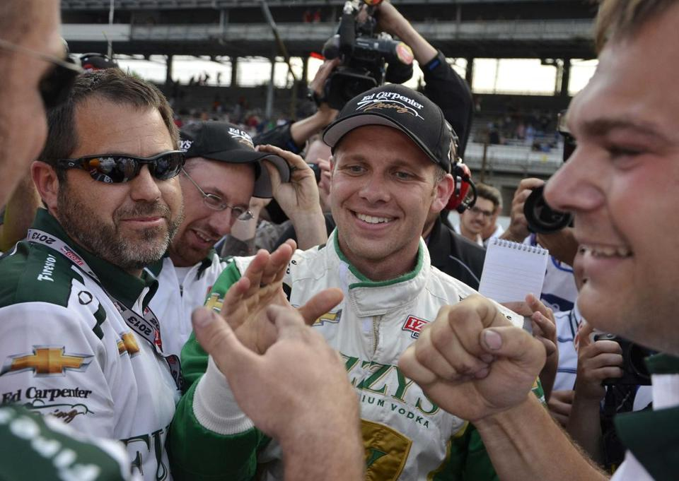 Ed Carpenter will be on the pole to start the Indy 500 — the race he grew up around.