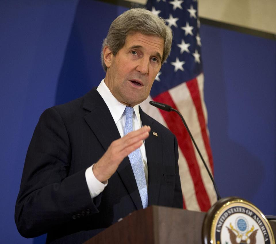 Secretary of State John Kerry, in Arlington, Va., outlined plans for increased security at US embassies.