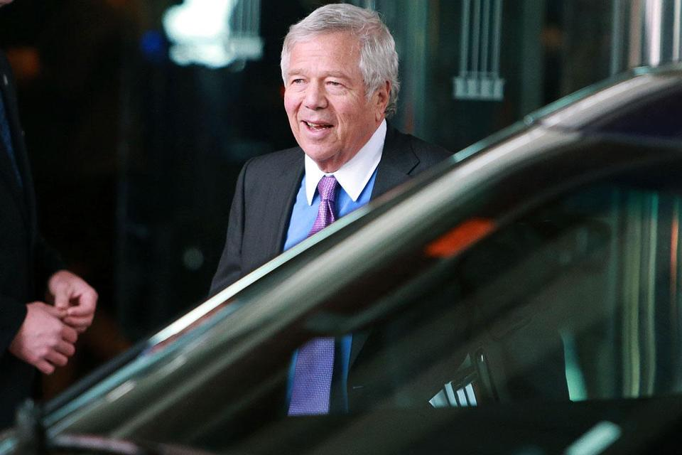 Patriots owner Robert Kraft mentioned a Boston-Providence partnership to lure a Super Bowl.