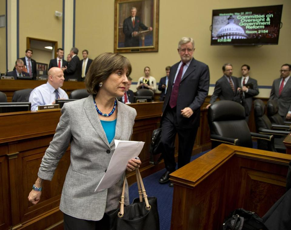 IRS official Lois Lerner invoked the Fifth Amendment in declining to answer a House panel's questions Wednesday.