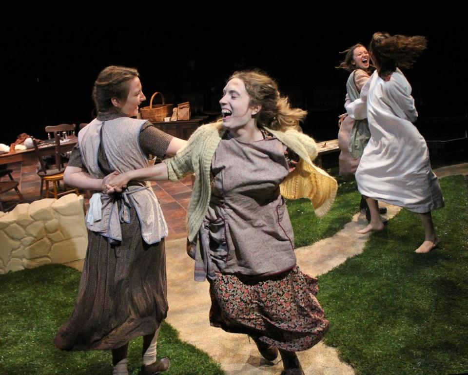 "From left: Margaret Dunn, Sarah Barton, Elisabeth Yancey, and Angela Bilkic as four of five sisters in ""Dancing at Lughnasa."""