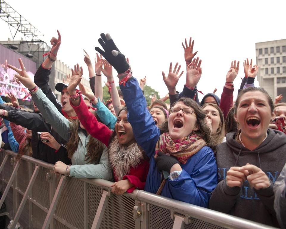 Rain didn't keep fans away from attending the inaugural Boston Calling.
