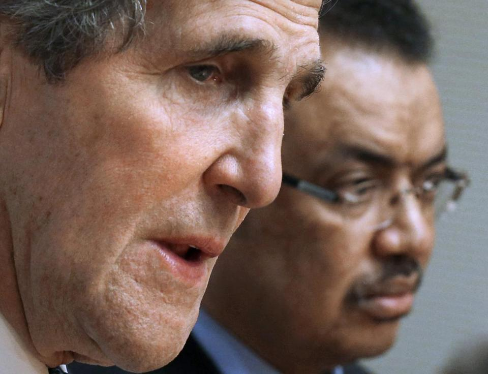 Secretary of State John Kerry and Foreign Minister Tedros Adhanom Ghebreyesus of Ethiopia met in Addis Ababa.