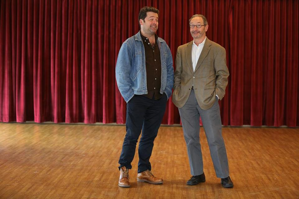 The Huntington Theatre Company's artistic director, Peter DuBois, and managing director, Michael Maso.
