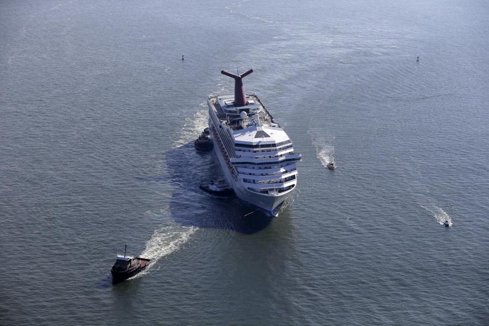 Carnival Triumph stalled for five days in the Gulf of Mexico this year; 32 died in Italy last year in the Costa Concordia disaster.