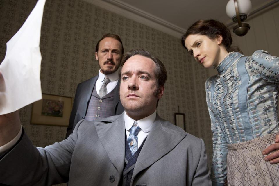 "Matthew Macfadyen, and Amanda Hale in ""Ripper Street."""
